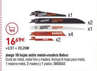 Oferta de Hojas de sierra por 16,69€