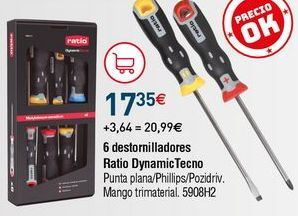 Oferta de Destornillador Ratio por 17,35€