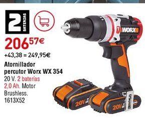 Oferta de Taladro atornillador worx por 206,57€