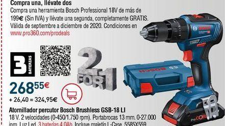 Oferta de Atornillador Bosch por 268,55€