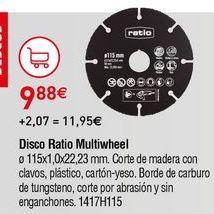 Oferta de Discos de corte Ratio por 9,88€