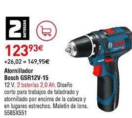Oferta de Atornillador Bosch por 123,93€