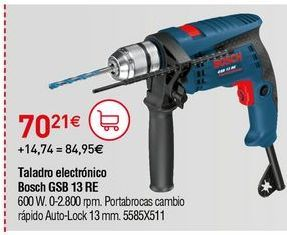 Oferta de Taladro eléctrico Bosch por 70,21€