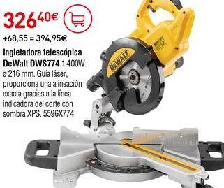 Oferta de Ingletadora telescópica Dewalt por 326,4€