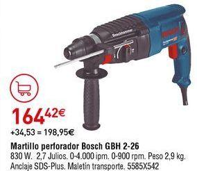 Oferta de Martillo perforador Bosch por 164,42€
