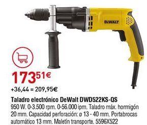 Oferta de Taladro electrónico Dewalt por 173,51€