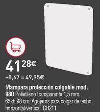 Oferta de Mampara de oficina por 41,28€