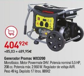 Oferta de Generador por 404,92€