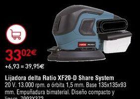 Oferta de Lijadora Ratio por 33,02€