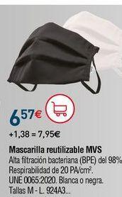 Oferta de Mascarilla facial por 6,57€
