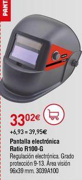 Oferta de Pantalla de soldador Ratio por 33,02€