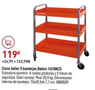 Oferta de Carro portaherramientas por 119€