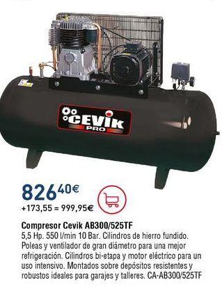 Oferta de Compresor de aire Cevik por 826,4€