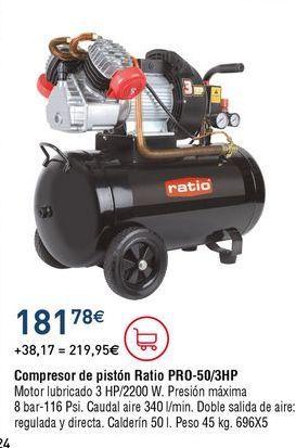 Oferta de Compresor de aire Ratio por 181,78€