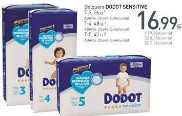 Oferta de Pañales Dodot por 16,99€