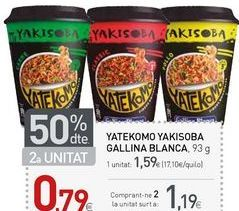 Oferta de Pasta oriental Gallina Blanca por 1,59€