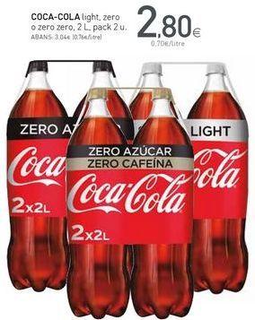 Oferta de Coca-Cola por 2,8€