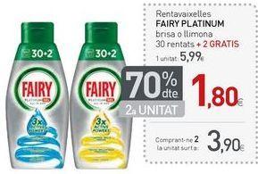 Oferta de Detergente lavavajillas Fairy por 5,99€
