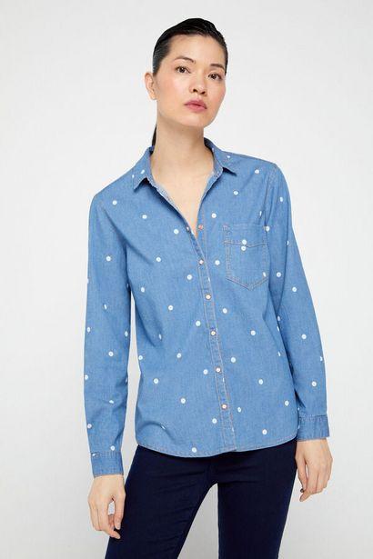 Oferta de Camisa vaquera elastica por 14,99€