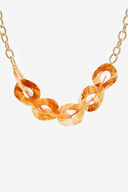 Oferta de Collar eslabones de resina por 19,99€