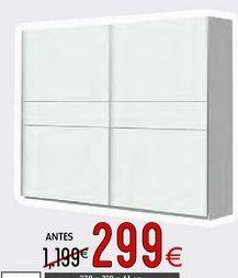 Oferta de Armario con puertas correderas por 299€