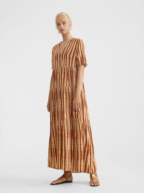 Oferta de Vestido Escote Pico Estampado por 9,99€