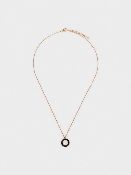 Oferta de Collar Corto De Acero Con Brillantes por 17,99€