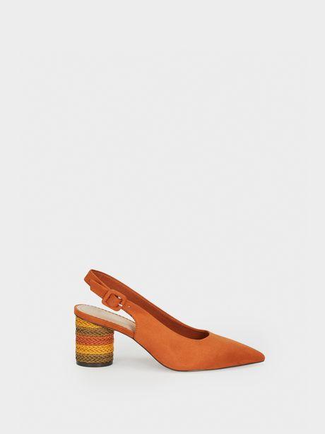 Oferta de Zapatos Tacón Medio Trenzado Multicolor por 15,99€