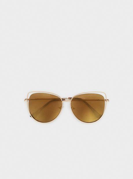 Oferta de Gafas De Sol Metálicas Cat Eye por 17,99€