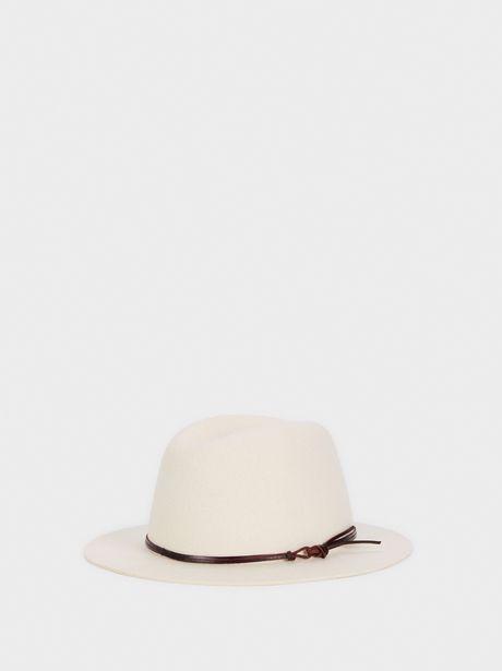 Oferta de Sombrero De Lana Con Cinta A Contraste por 9,99€