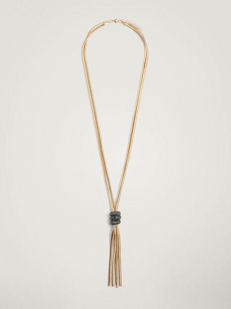 Oferta de Collar Largo Con Nudo por 12,99€