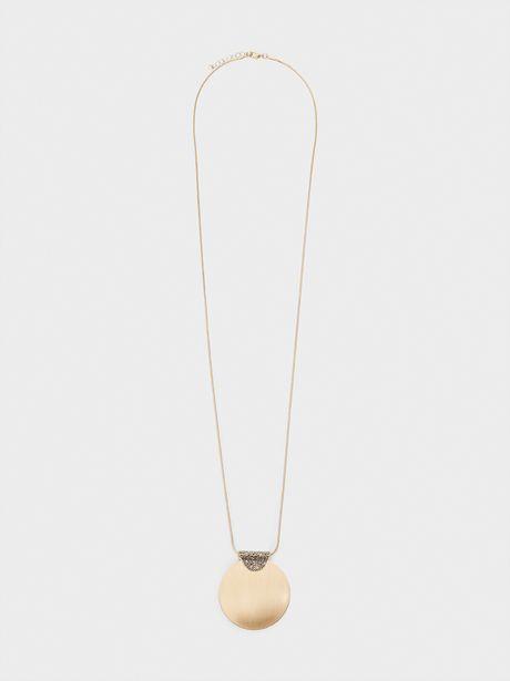 Oferta de Collar Largo Cristales Y Medallón por 4,99€