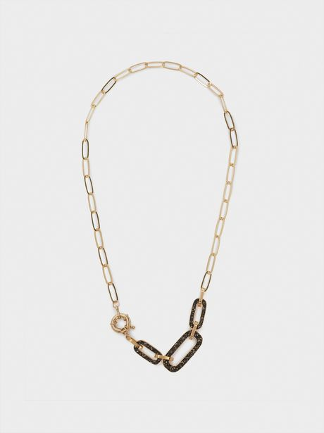 Oferta de Collar Corto Eslabones Y Cristales por 4,99€