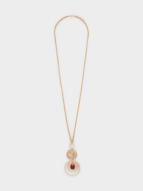 Oferta de Collar Largo Colgantes Medallón por 5,99€