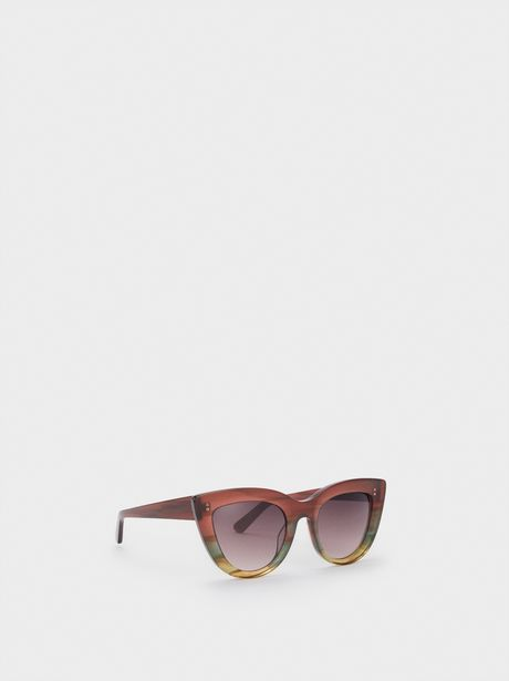 Oferta de Gafas De Sol Cat Eye Montura De Pasta por 31,99€