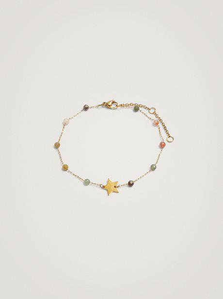 Oferta de Pulsera De Acero Con Piedras Y Estrella por 15,99€