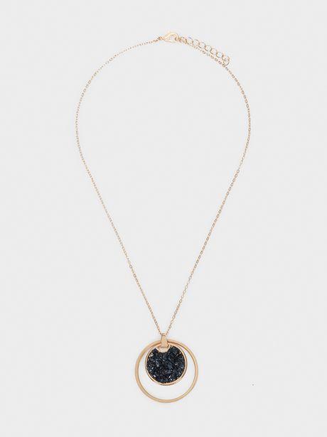Oferta de Collar Corto Piedra Y Medallón por 4,99€