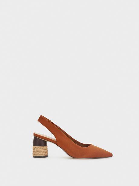 Oferta de Zapatos Tacón Medio Con Textura Ante por 12,99€