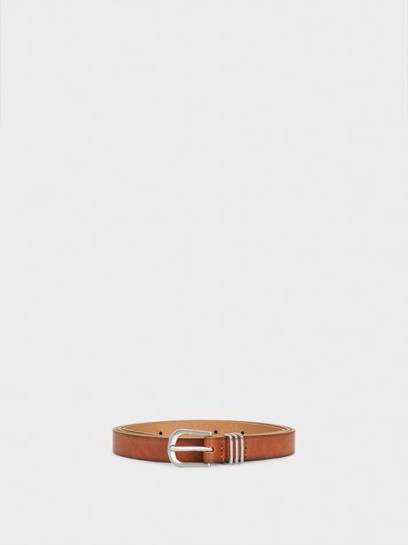 Oferta de Cinturón Estrecho Con Hebilla Plateada por 7,99€