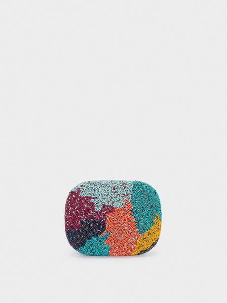 Oferta de Clutch De Fiesta Abalorios Multicolor por 19,99€