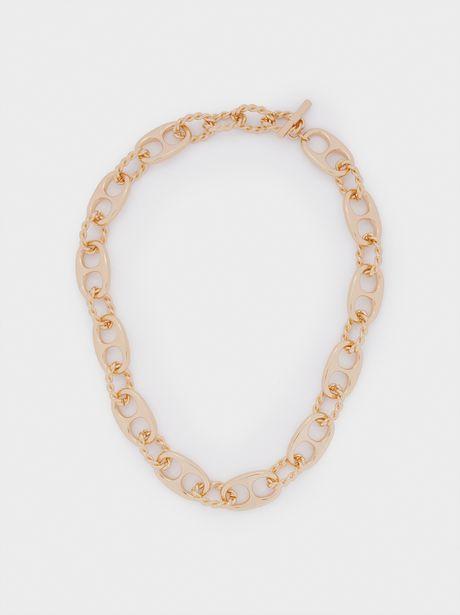 Oferta de Collar Cadena Corto Dorado por 7,99€