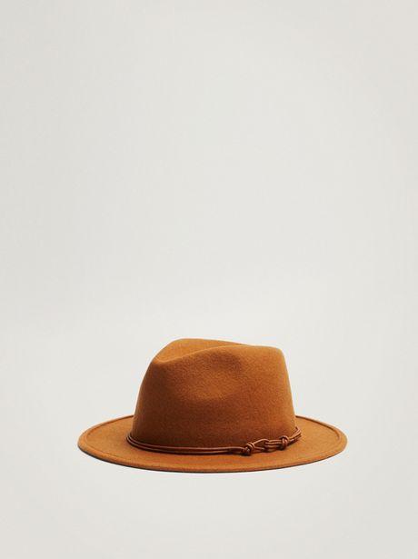 Oferta de Sombrero De Lana Con Cinta A Contraste por 19,99€