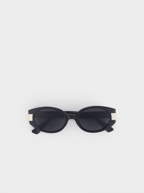 Oferta de Gafas De Sol Ovaladas Detalle Metálico por 7,99€