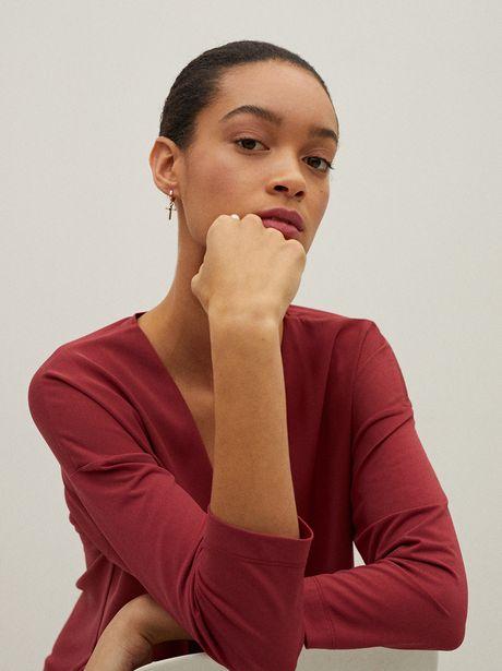 Oferta de Vestido Liso Con Cuello De Pico por 9,99€