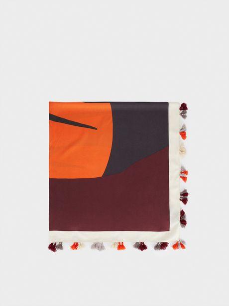 Oferta de Pañuelo Cuadrado Estampado Multicolor por 9,99€