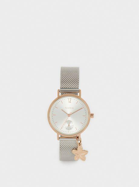 Oferta de Reloj Correa De Malla Metálica Detalle Flor por 22,39€