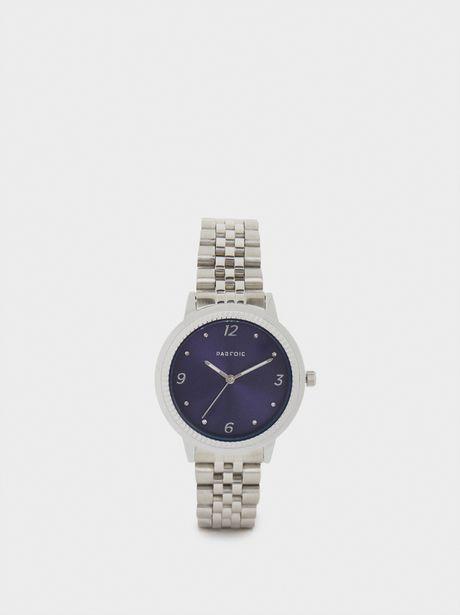 Oferta de Reloj De Acero Esfera A Contraste por 14,99€