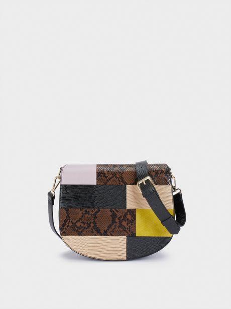 Oferta de Bolso Bandolera Diseño Patchwork por 12,99€
