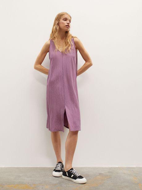 Oferta de Vestido Liso Con Cuello De Pico por 22,99€