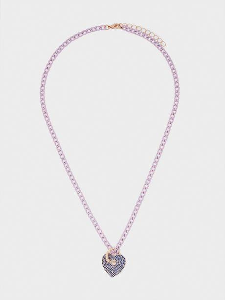 Oferta de Collar Corto Corazón Con Cristales por 5,99€
